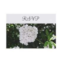 White Wedding Mountain Laurel RSVP Cards Custom Announcements by