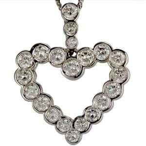 Bezel Set Diamond Heart Pendant DaCarli Jewelry