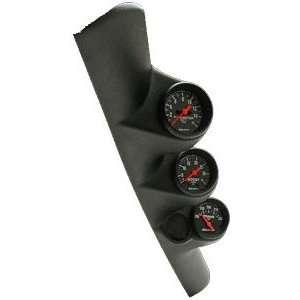 Auto Meter 22657 Black 2 1/16 Triple Pillar for 2000 2004