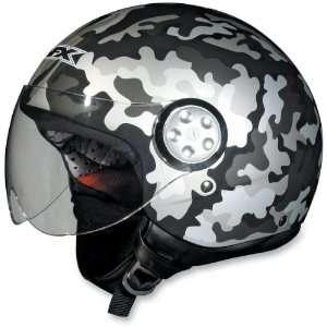 FX 42 Pilot Helmet , Color Flat Black Camo, Size Lg FLAT 0103 0554
