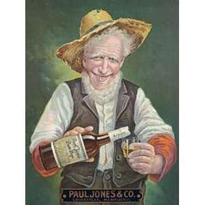 Paul Jones Company Rye Metal Tin Sign Nostalgic