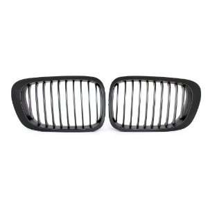 BMW E46 1999 2001 3 SERIES SEDAN MATTE BLACK GRILLES