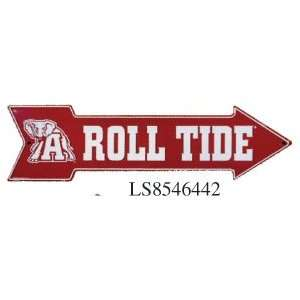 University Of Alabama Roll Tide Metal Arrow Sign (6