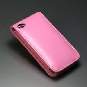 Pink / PU Leather Case Cover for Apple iPod touch 4th+Free