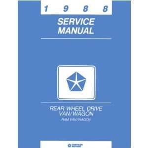 1988 DODGE RAM VAN Shop Service Repair Manual Book