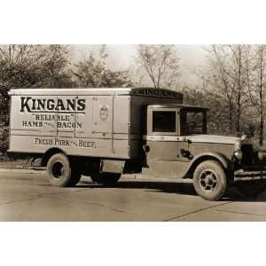 Kingans Reliable Hams and Bacon, Fresh Pork and Beef Delivery Truck