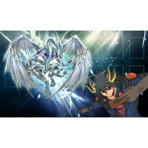 Yugioh Yusei and Stardust Dragon Custom Playmat / Gamemat