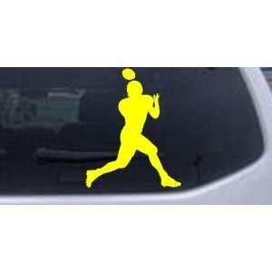 Football Player Sports Car Window Wall Laptop Decal Sticker    Yellow