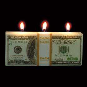 Money To Burn   $100 Dollar Bill Shaped Candle Gag Gift