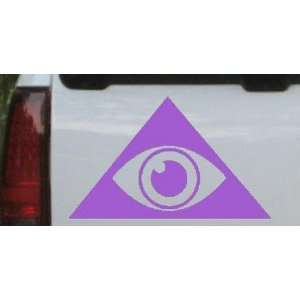Purple 30in X 18.4in    Illuminati Eye Masonic Car Window Wall Laptop