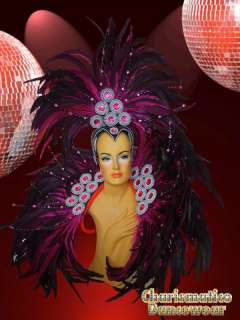 Fuchsia DRAG QUEEN TRANSVESTITE Feather SAMBA RIO CARNIVAL COLLAR