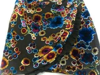 NWT JUICY COUTURE Black Silk Devore Lace Dress Size S