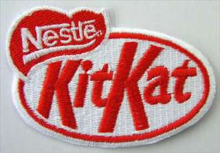 NESTLE KITKAT LOGO IRON ON EMBROIDERED PATCH