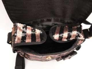BN Sonia Rykiel Black Sequin Shoulder Bag Messenger