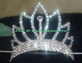 wholesale 4pcs charming mix style rhinestone crown