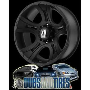 com 22 Inch 22x11 KMC XD SERIES wheels CRANK Matte Black wheels rims