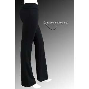 Fold Over Cotton Spandex Yoga Pants: Everything Else