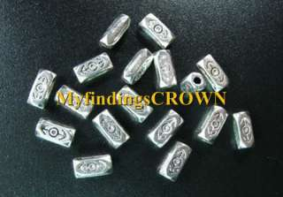 200 pcs Tibetan Silver cubic spacer beads FC727