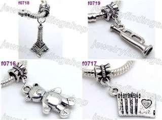 36 Tibetan silver mixed style Dangle fit charm bracelet