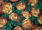 JACK O LANTERNS TABLE RUNNER SCARF FROM VINTAGE FABRIC