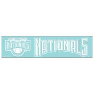 MLB Washington Nationals 4x16 Die Cut Decal