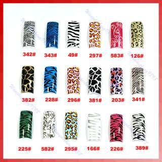 100 Animal Prints False French 18 Designs Nail Art Tips