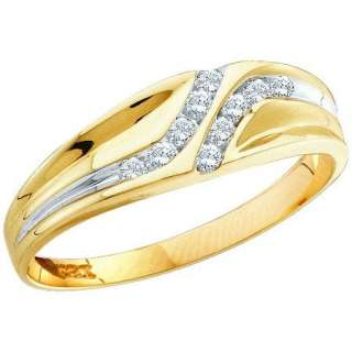 12 Carat Mens Diamond 10K Yellow Gold Band Ring #021 605