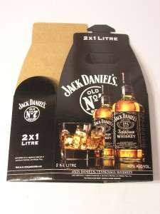 JACK DANIELS OLD NO. 7 BOX HOLDS 2 X1 LITRE BOTTLES