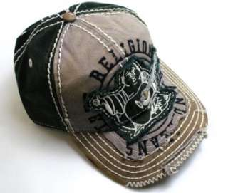 NEW TRUE RELIGION GRAPHIC UNISEX DISTRESSED BLACK BUDDHA TRUCKER HAT