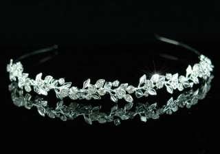 Bridal Flower Crystal Rhinestone Headband Tiara T1314