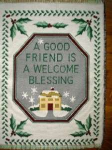 Friend Blessing TAPESTRY Fabric Pillow Panel Chrismas