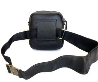 New Fashion Real Cow Leather Mens Messenger Cross Body Bag Waist