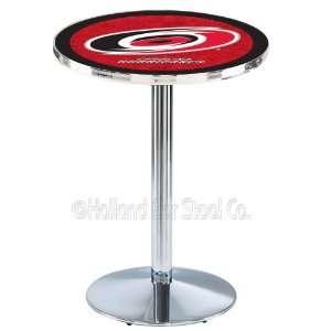 Hurricanes NHL Hockey Chrome Pub Table L214