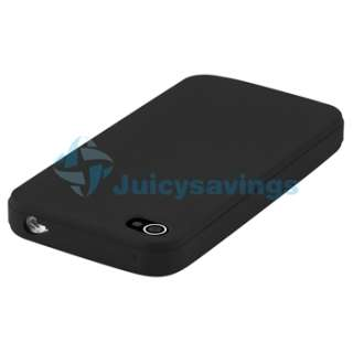 iPhone 4 4S 4G 4GS G SKIN GEL CASE+CAR CHARGER+PRIVACY GUARD