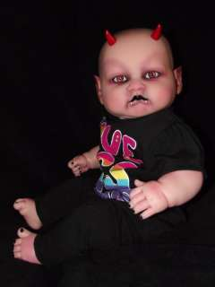 OOAK GOTH DEMON VAMPIRE BABY HORROR DOLL
