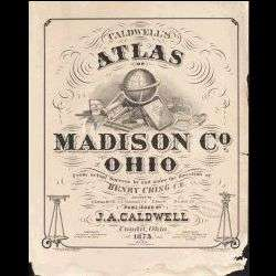 1875 Atlas of Madison County, Ohio   OH History Genealogy Biography