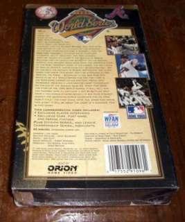1996 NEW YORK YANKEES *WORLD SERIES* VHS VIDEO SEALED M