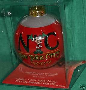 DISNEY MICKEY 2007 NEW YORK CITY CHRISTMAS ORNAMENT NEW