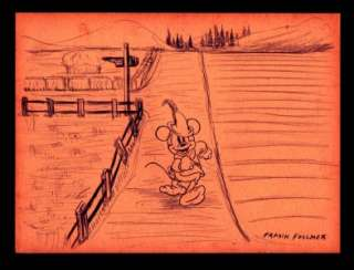 WALT DISNEY MICKEY MOUSE BRAVE LITTLE TAILOR 1938 ORIGINAL ART BY