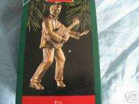 1992 Hallmark ELVIS PRESLEY Brass Plated Ornament