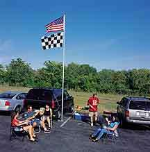 20 TAILGATING CAMPING RACING FLAGPOLE WITH WHEELSTAND