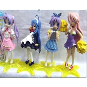 Lucky Star Japanese Anime 4 pcs Set Figure   approx 4.5