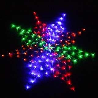 Colorful Net 160 LED Lights For Christmas Party EU Plug