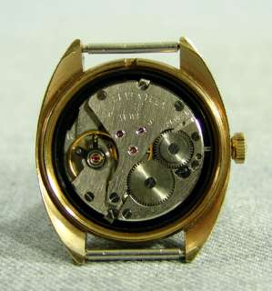 SOVIET RUSSIAN GOLD POLJOT MEN WRISTWATCH&DATE~17 JEWEL
