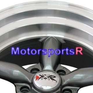 Gun Metal Rims Wheels Deep Dish 5 lugs 65 66 67 Ford Mustang GT