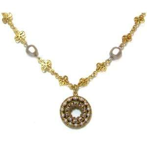 Catherine Popesco 14K Gold Plated Lotus and Platinum Pearl