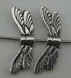 free ship 25pcs Tibetan silver angel wing spacer beads 20x7.5mm