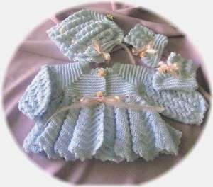 Baby Sweater Set Crochet Pattern (003) by REBECCA LEIGH 6/12 MONTHS