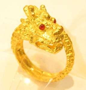 23k 23kt solid gold dragon ring thai baht / india /#41