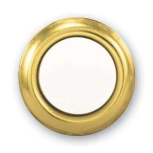 455G B Wired Replacement Button, Gold Rim with Lighted Pearl Center